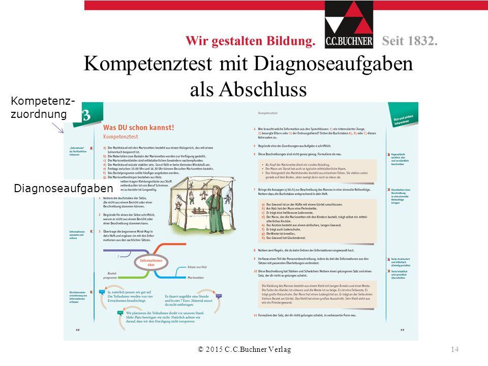 Kompetenztest mit Diagnoseaufgaben als Abschluss