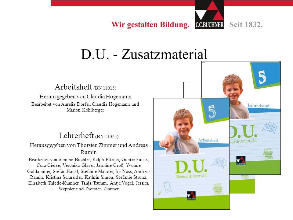 D.U. - Zusatzmaterial Arbeitsheft (BN 11015) Lehrerheft (BN 11025)