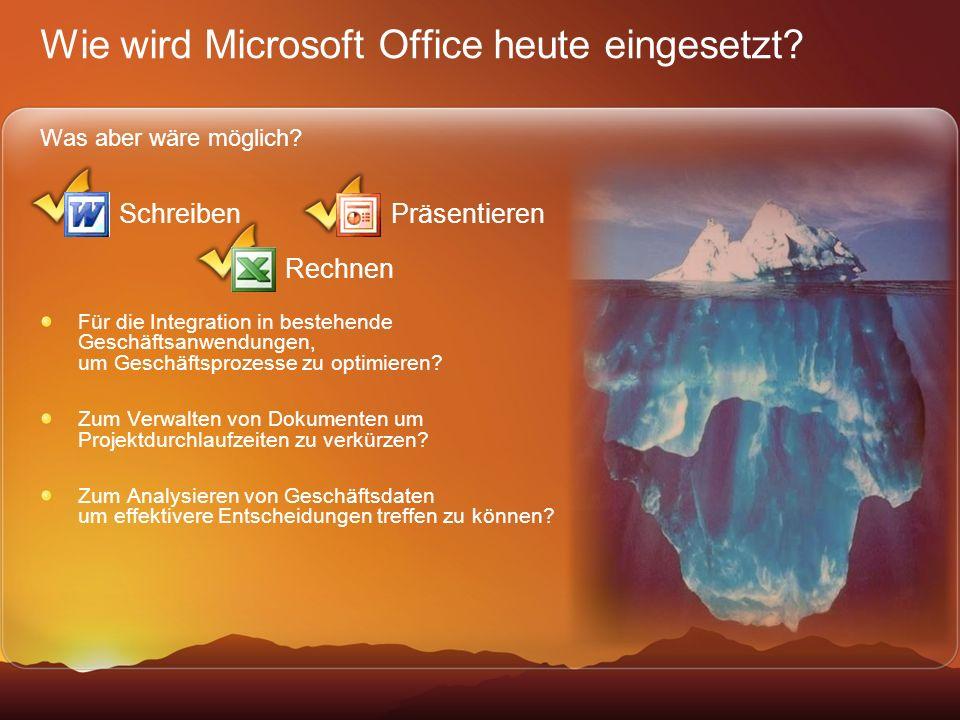 Wie wird Microsoft Office heute eingesetzt