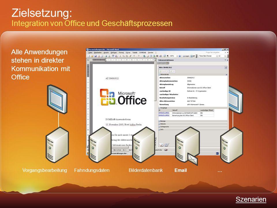Zielsetzung: Integration von Office und Geschäftsprozessen