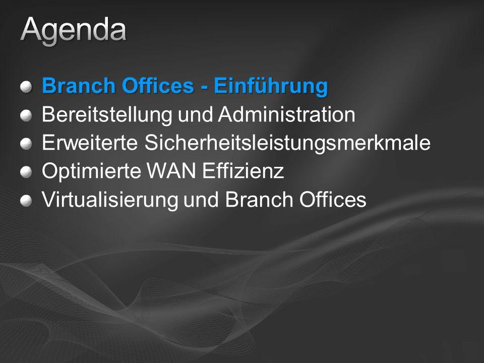 Agenda Branch Offices - Einführung Bereitstellung und Administration