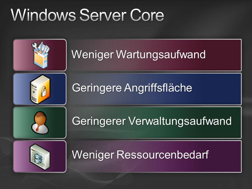 Windows Server Core Weniger Wartungsaufwand Geringere Angriffsfläche