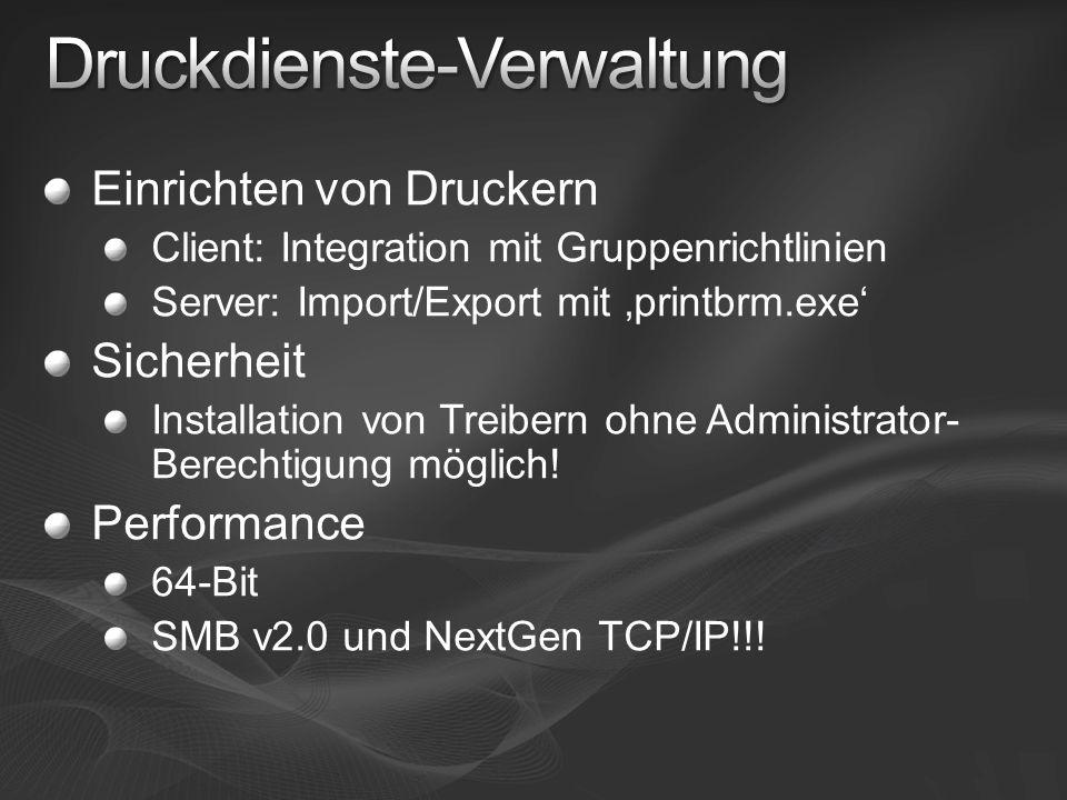 Druckdienste-Verwaltung