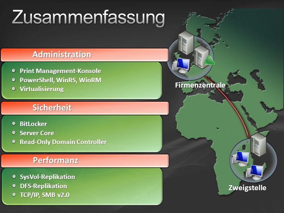 Zusammenfassung Administration Sicherheit Performanz Firmenzentrale