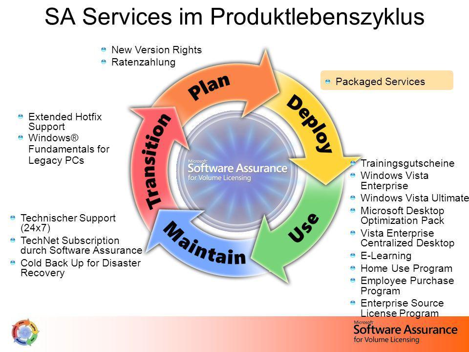 SA Services im Produktlebenszyklus