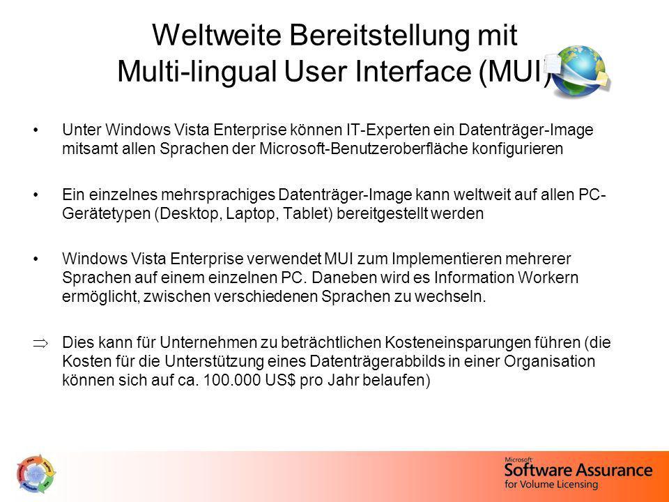 Weltweite Bereitstellung mit Multi-lingual User Interface (MUI)