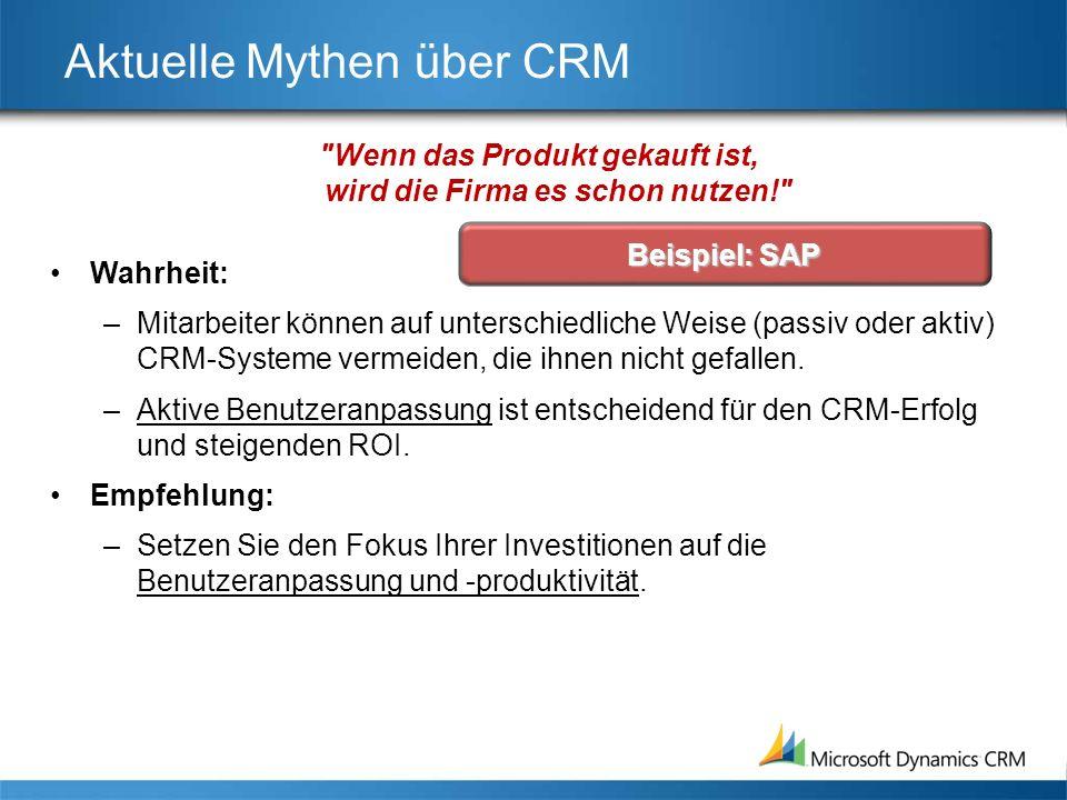 Aktuelle Mythen über CRM