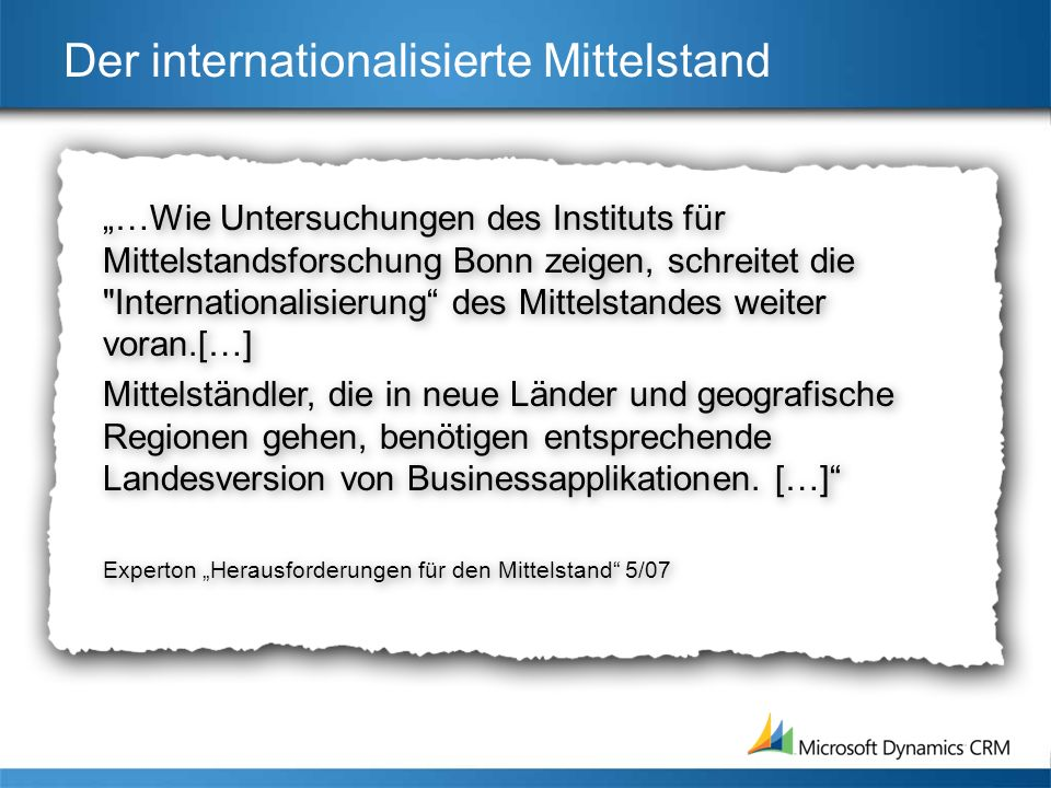 Der internationalisierte Mittelstand