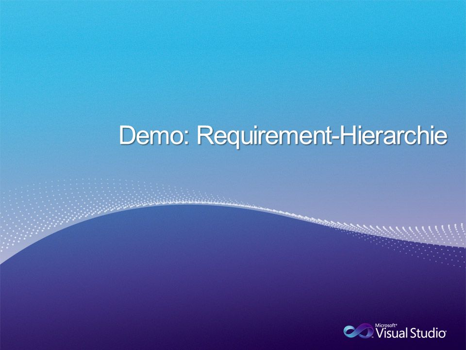 Demo: Requirement-Hierarchie