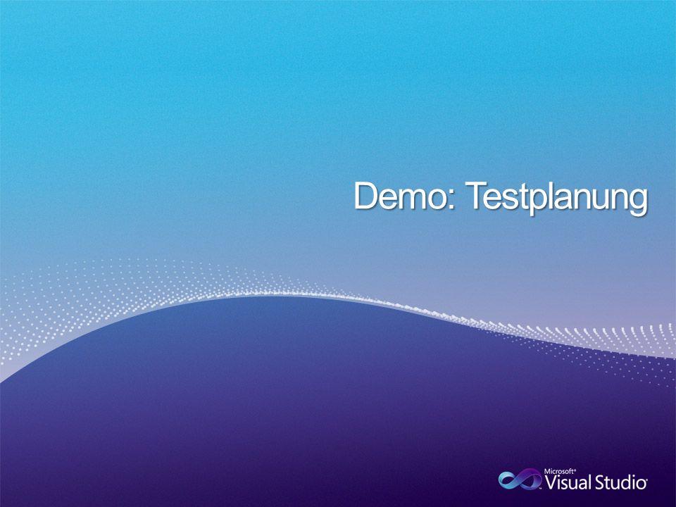 Demo: Testplanung