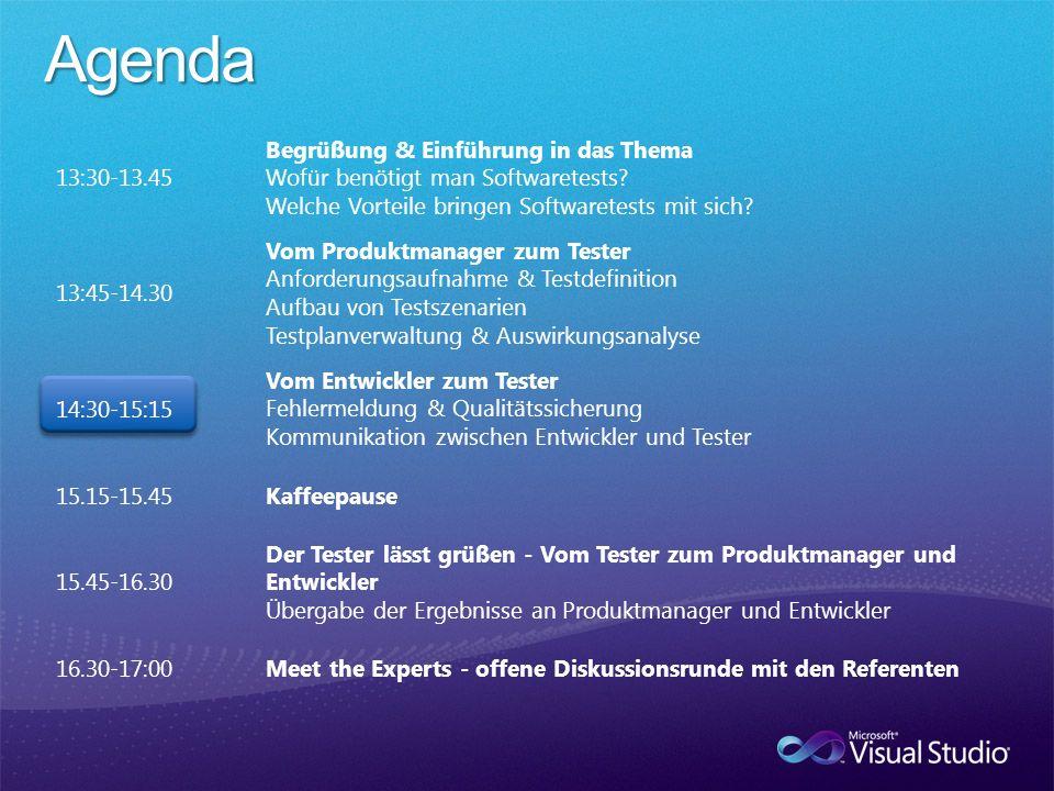 Agenda 13:30-13.45 Begrüßung & Einführung in das Thema