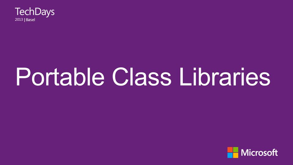 Portable Class Libraries