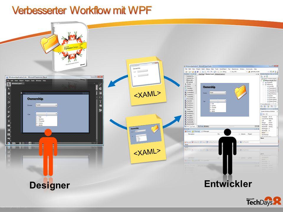 Verbesserter Workflow mit WPF
