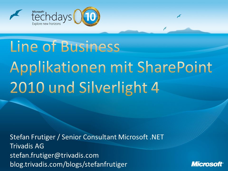 Line of Business Applikationen mit SharePoint 2010 und Silverlight 4