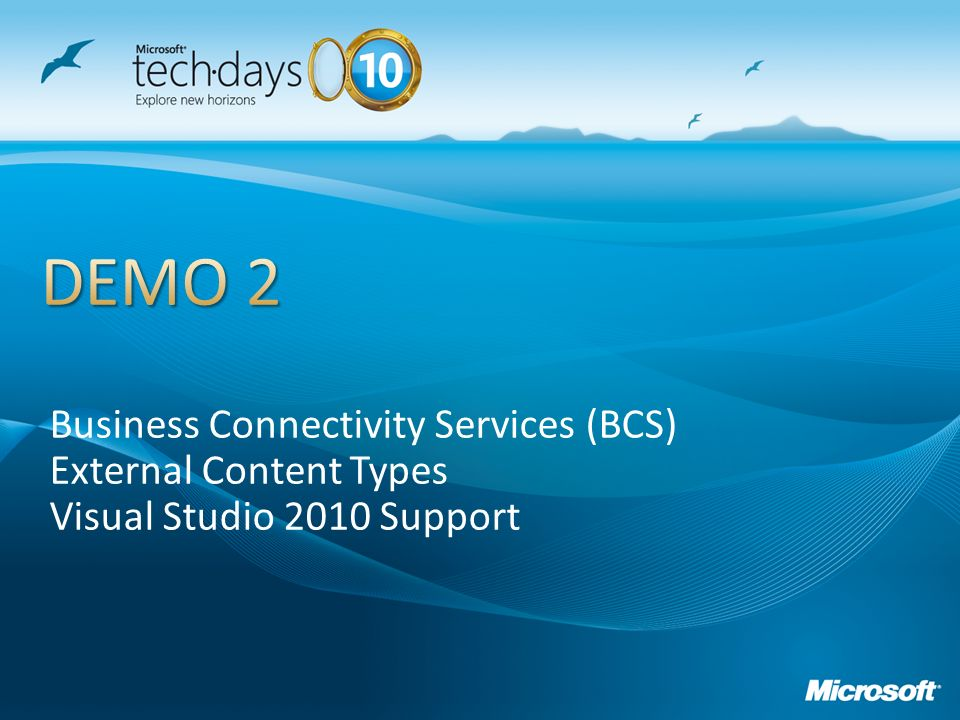 DEMO 2 Business Connectivity Services (BCS) External Content Types
