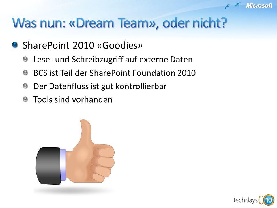 Was nun: «Dream Team», oder nicht