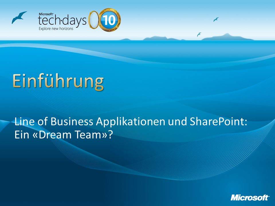 Line of Business Applikationen und SharePoint: Ein «Dream Team»