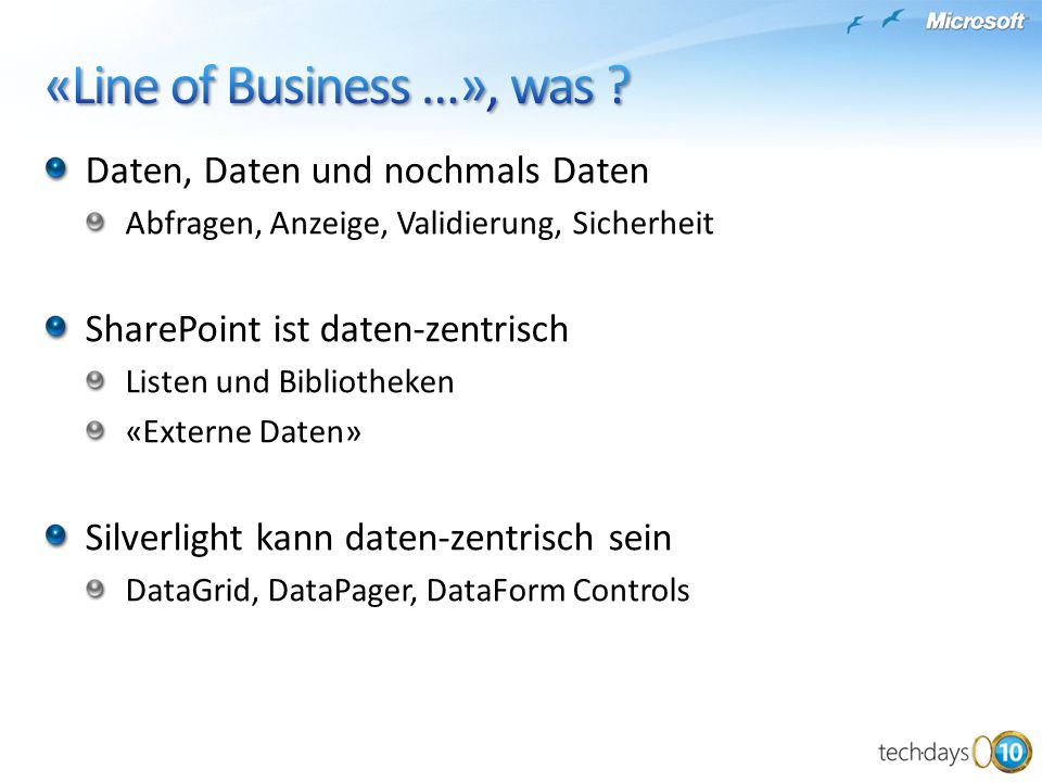 «Line of Business …», was