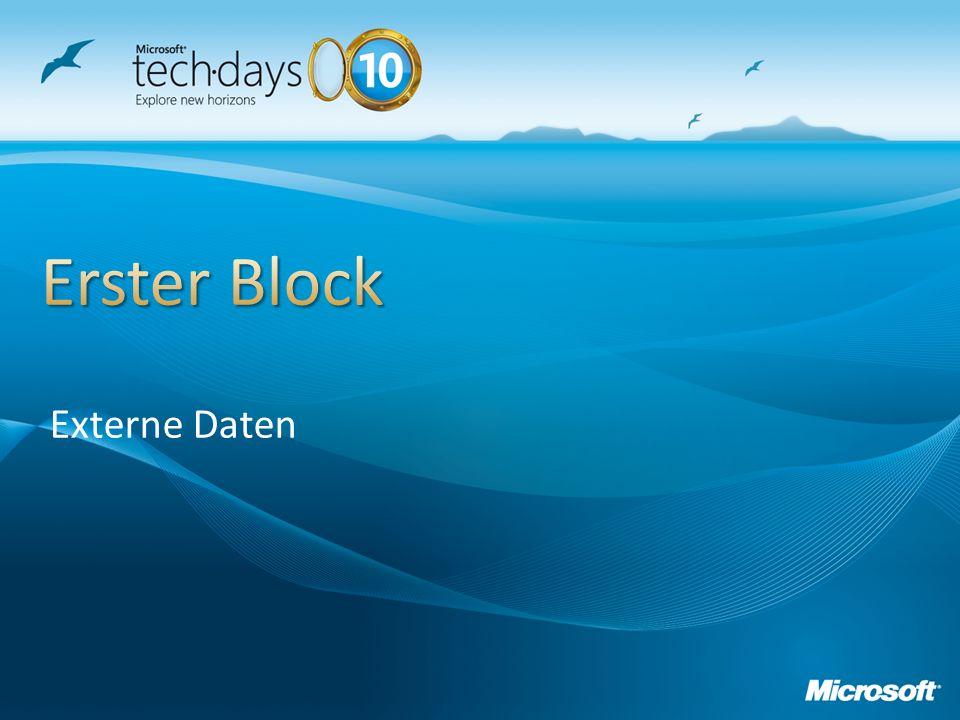 Erster Block Externe Daten