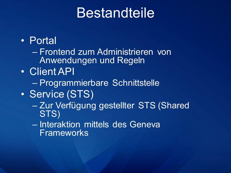 Bestandteile Portal Client API Service (STS)