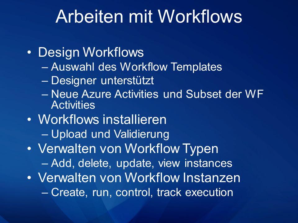 Arbeiten mit Workflows