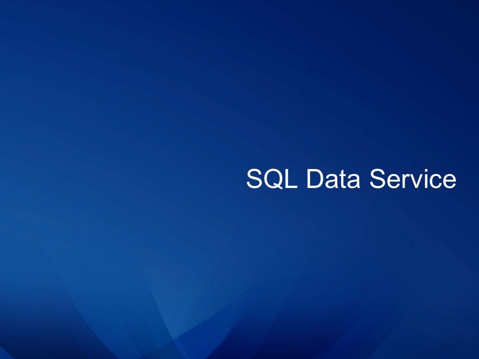 SQL Data Service
