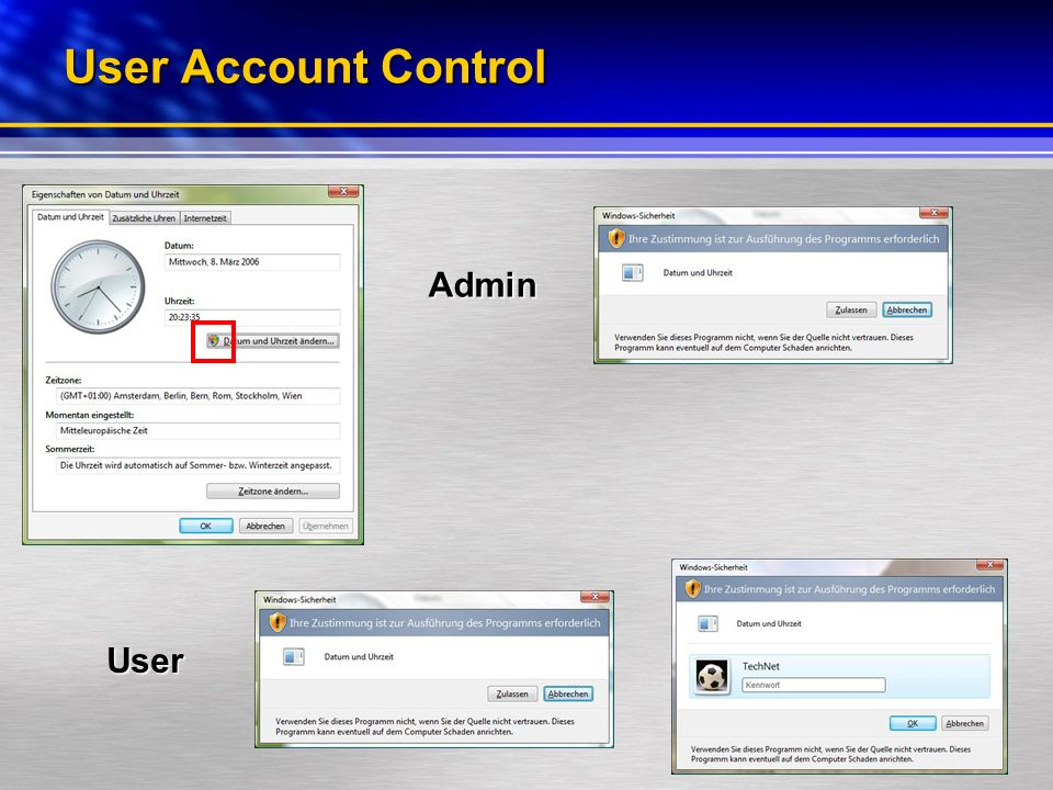 User Account Control Admin User