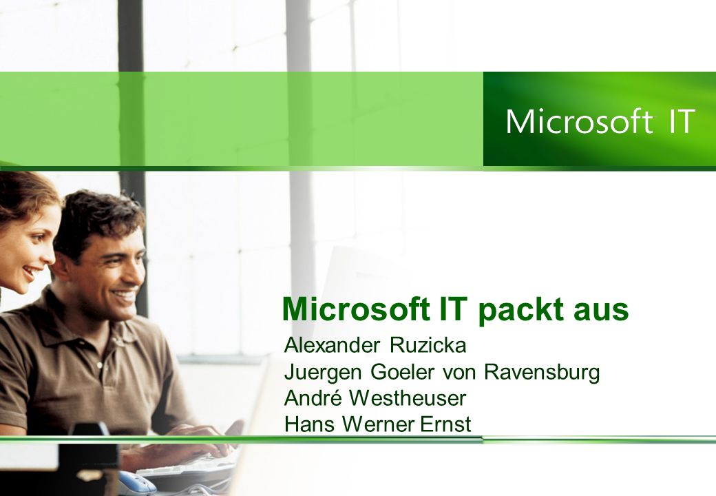 Microsoft IT packt aus Alexander Ruzicka Juergen Goeler von Ravensburg