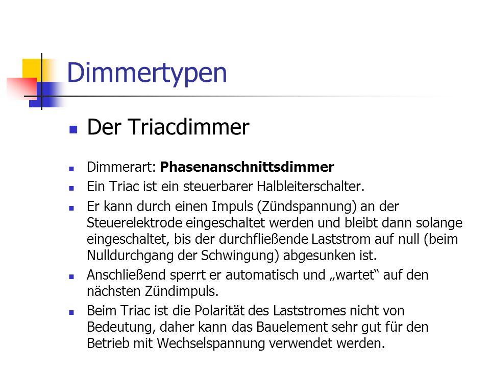 Dimmertypen Der Triacdimmer Dimmerart: Phasenanschnittsdimmer