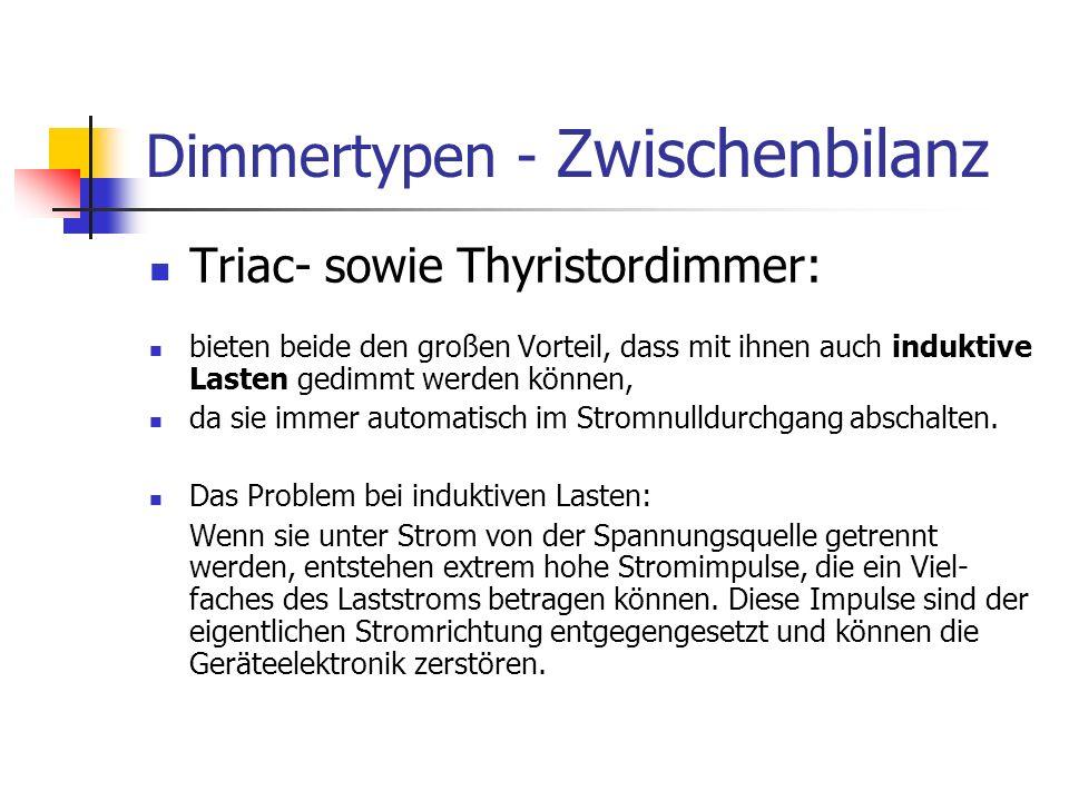 Dimmertypen - Zwischenbilanz