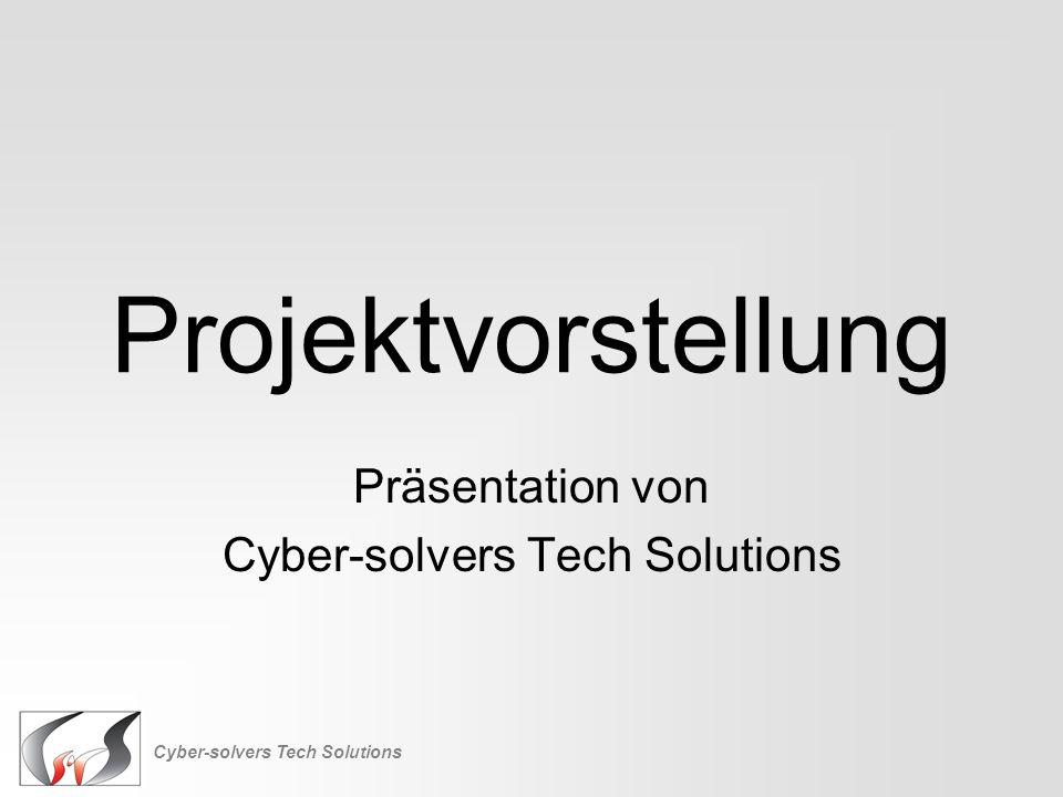 Präsentation von Cyber-solvers Tech Solutions