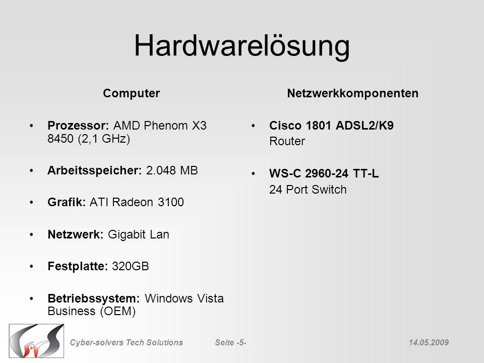 Hardwarelösung Computer Prozessor: AMD Phenom X3 8450 (2,1 GHz)