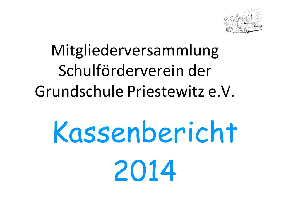 Mitgliederversammlung Schulförderverein der Grundschule Priestewitz e