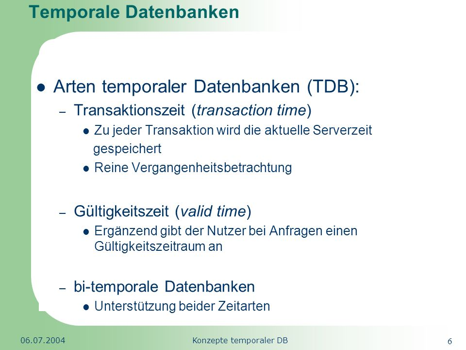Temporale Datenbanken