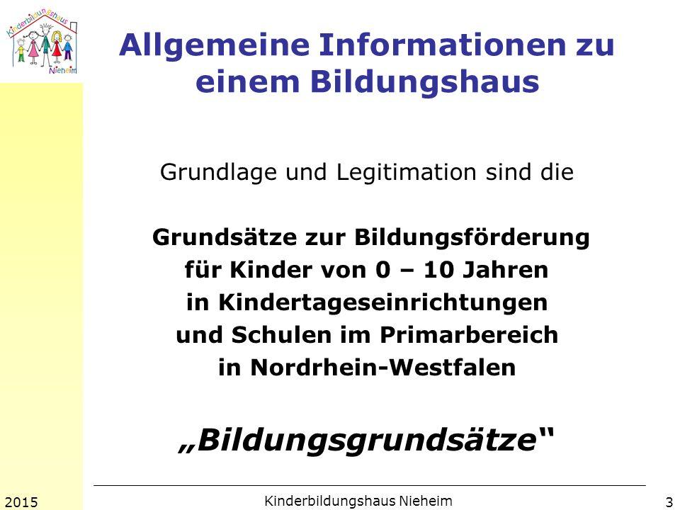 Allgemeine Informationen zu einem Bildungshaus