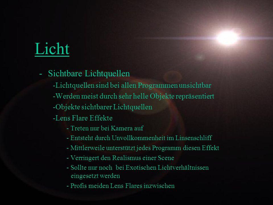 Licht Sichtbare Lichtquellen