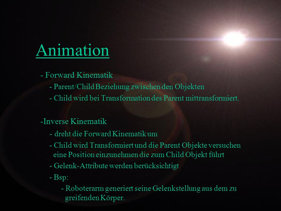 Animation - Forward Kinematik -Inverse Kinematik
