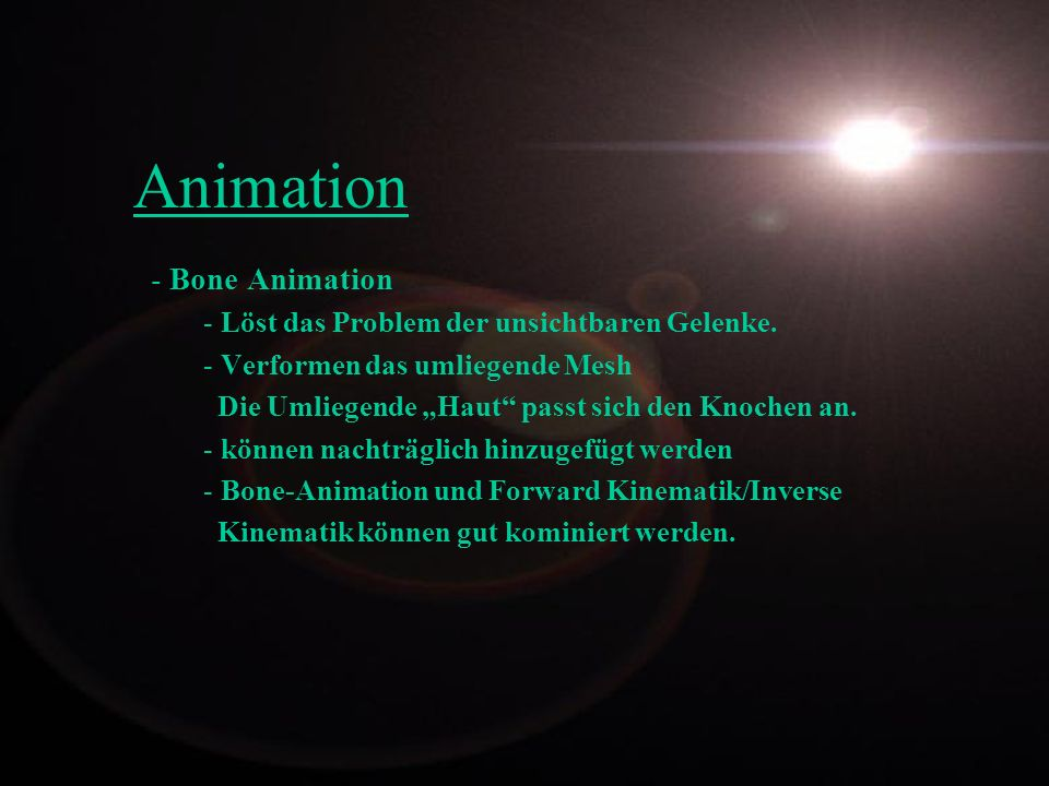 Animation Bone Animation Löst das Problem der unsichtbaren Gelenke.