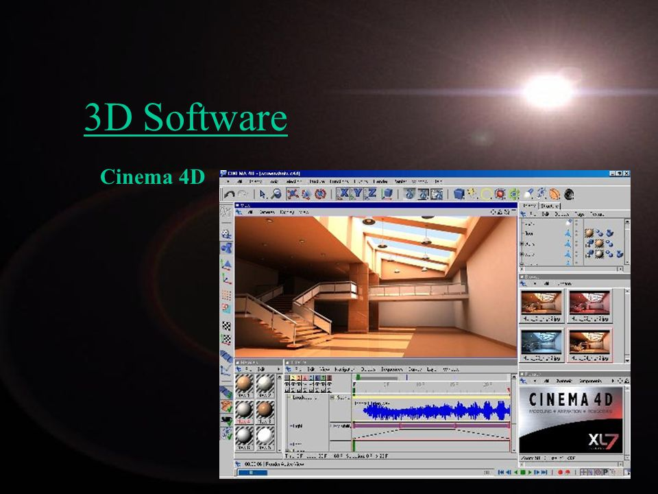 3D Software Cinema 4D