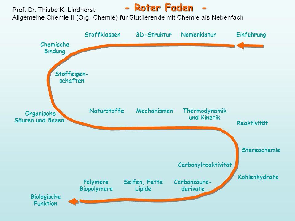 - Roter Faden - Prof. Dr. Thisbe K. Lindhorst