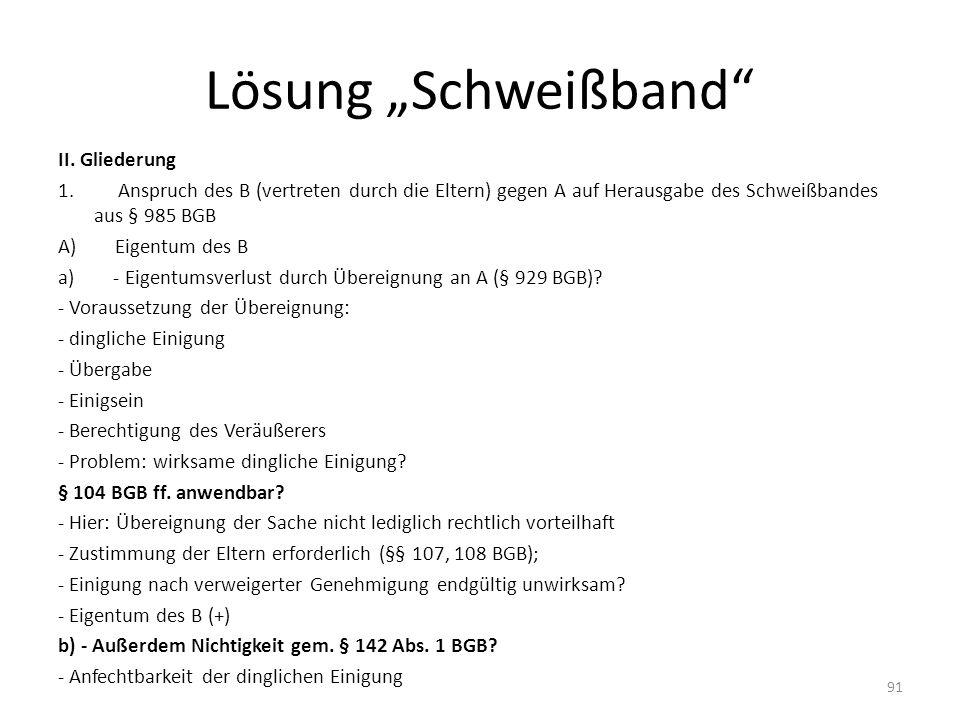 """Lösung """"Schweißband"""