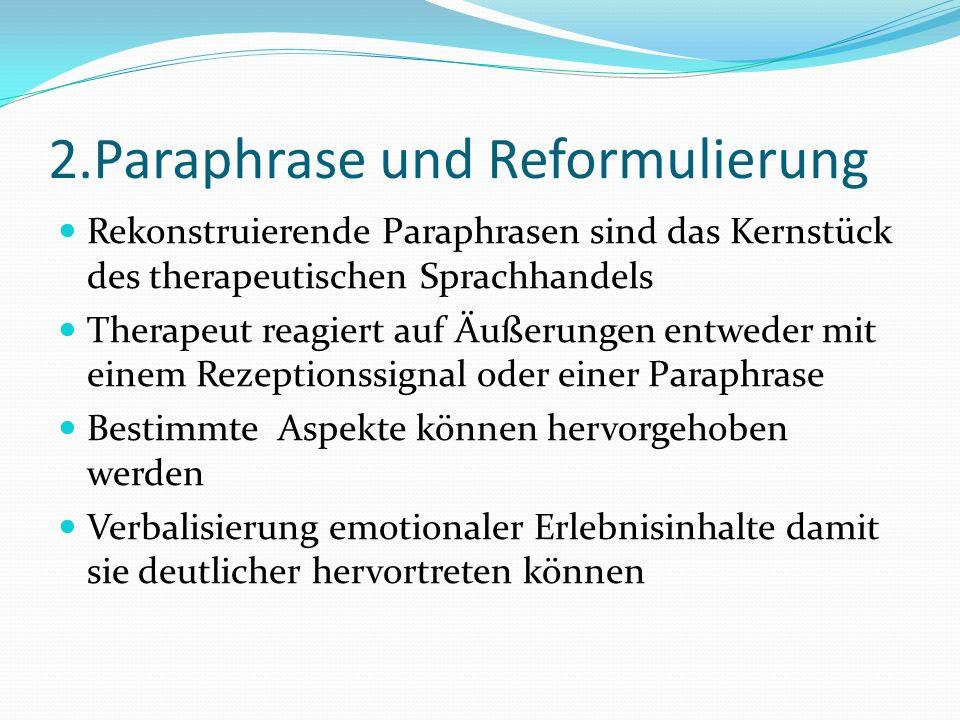2.Paraphrase und Reformulierung