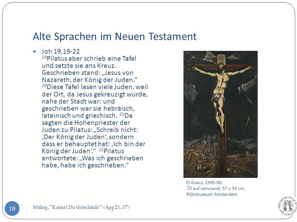 Alte Sprachen im Neuen Testament