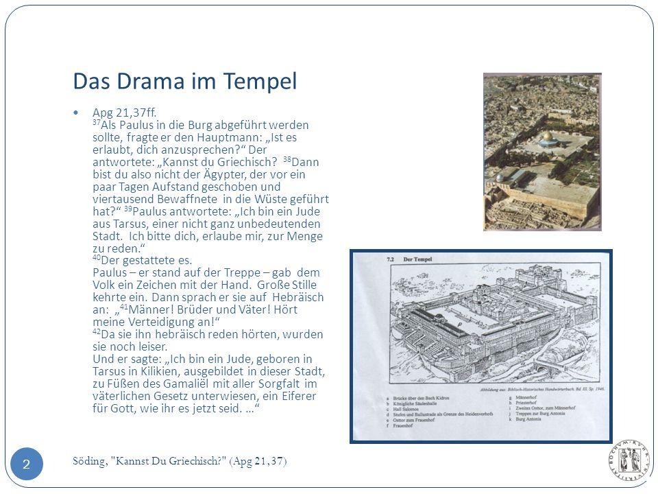 Das Drama im Tempel