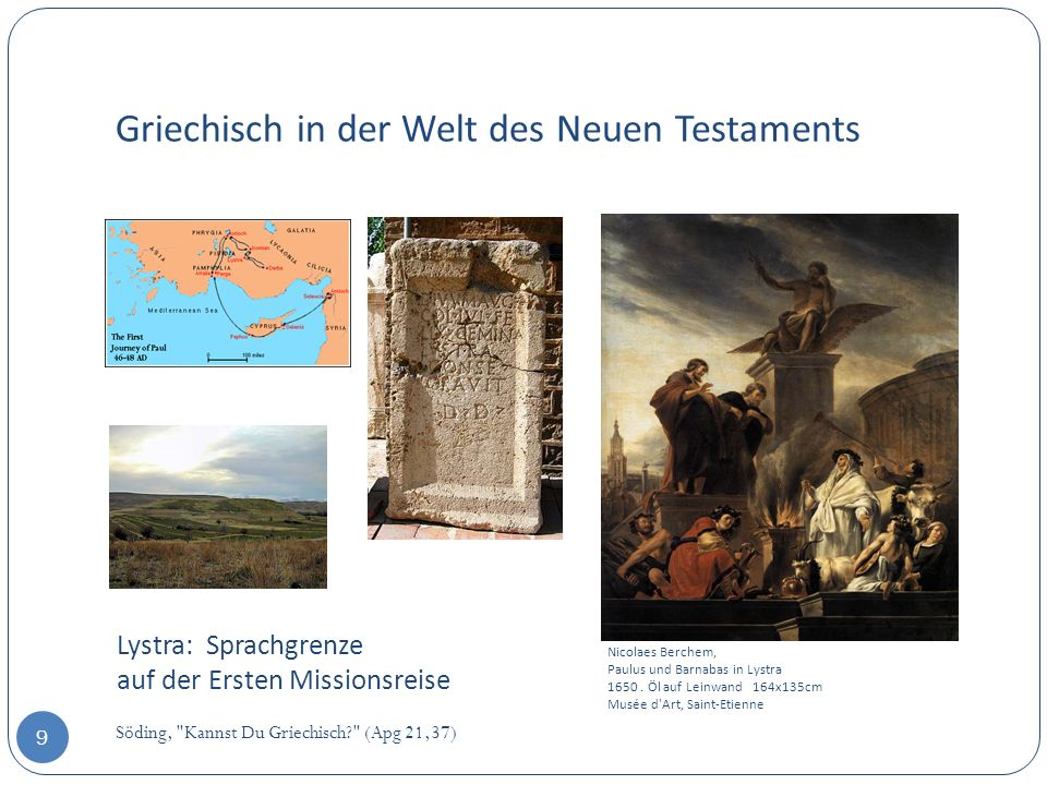Griechisch in der Welt des Neuen Testaments