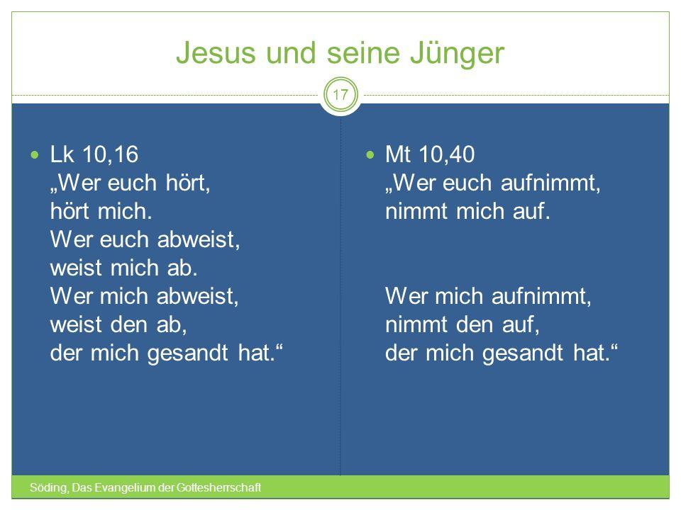 """Jesus und seine Jünger Lk 10,16 """"Wer euch hört, hört mich."""