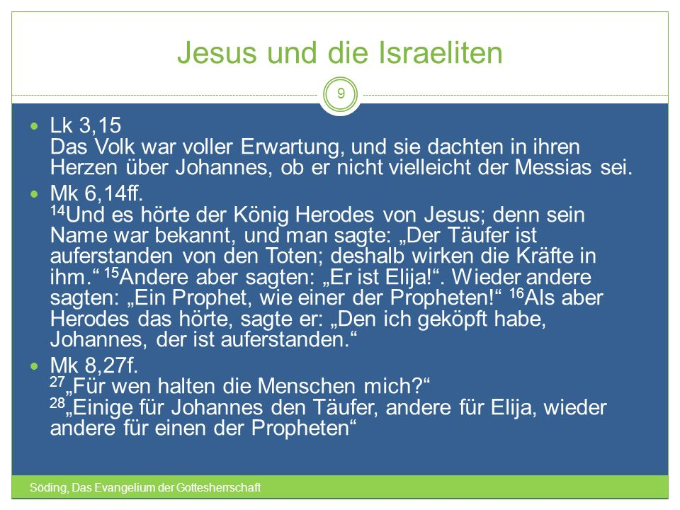 Jesus und die Israeliten