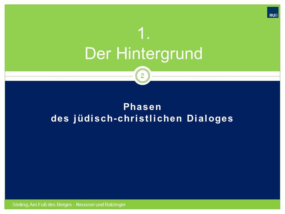 Phasen des jüdisch-christlichen Dialoges