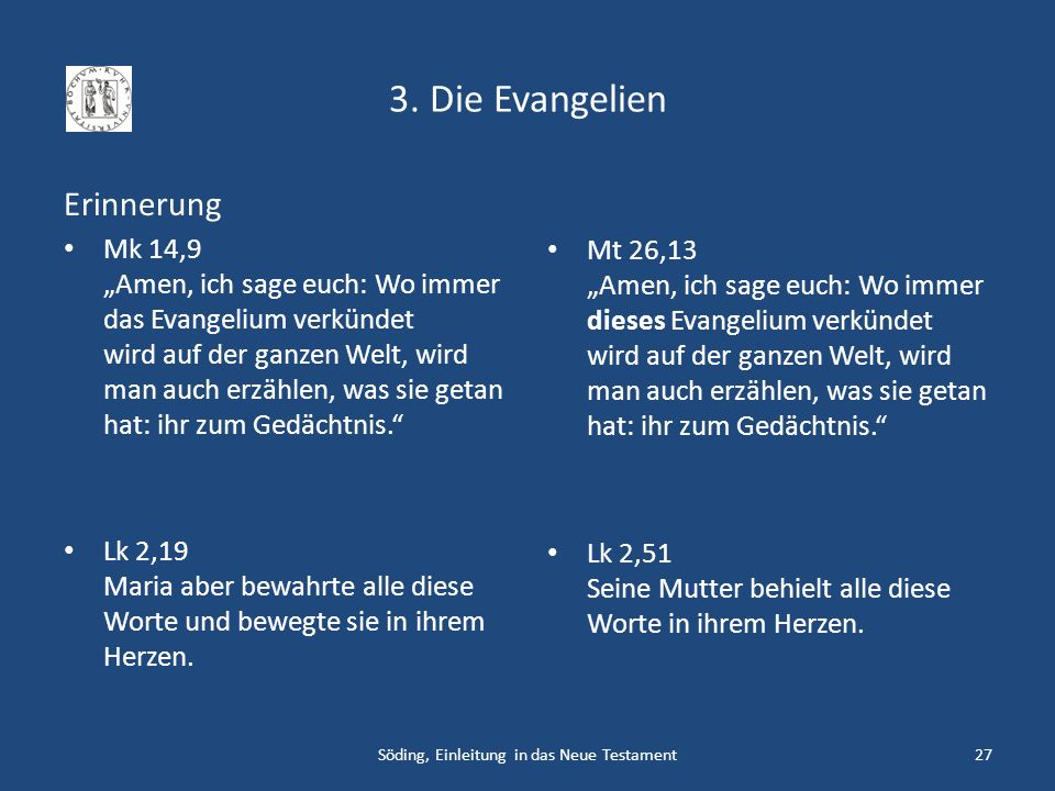 Söding, Einleitung in das Neue Testament