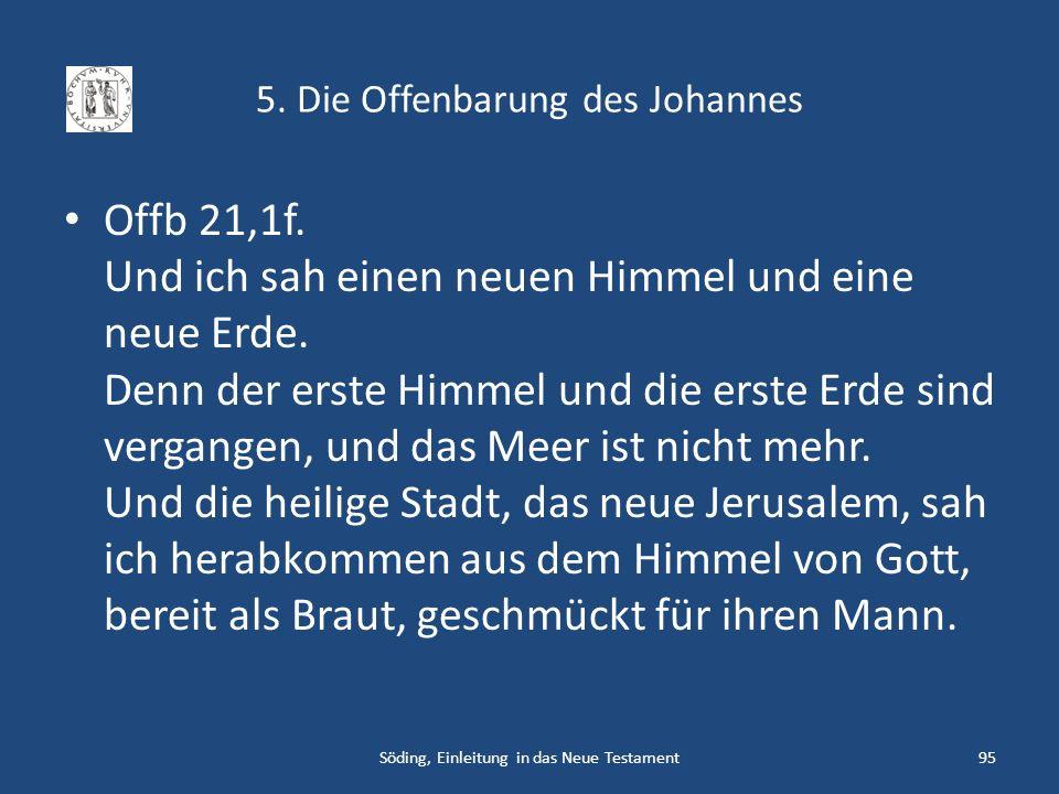 5. Die Offenbarung des Johannes